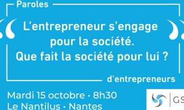 «Paroles d'entrepreneurs» mardi 15 octobre – Nantes