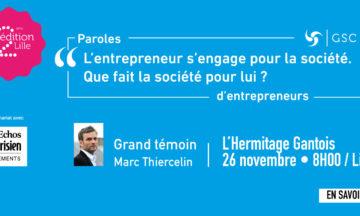 «Paroles d'entrepreneurs» mardi 26 novembre – Lille