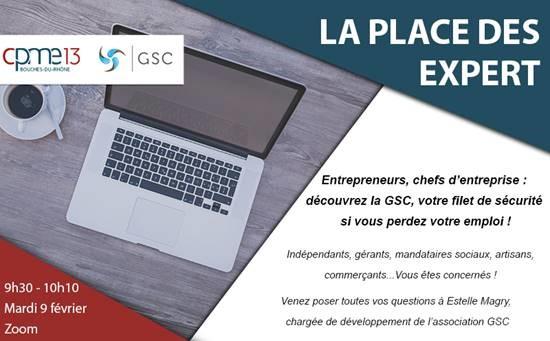 La place des experts – association GSC & CPME13