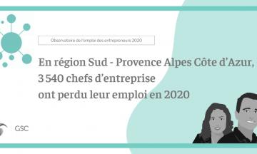 En région Sud – Provence Alpes Côte d'Azur, 3 540 chefs d'entreprise ont perdu leur emploi en 2020